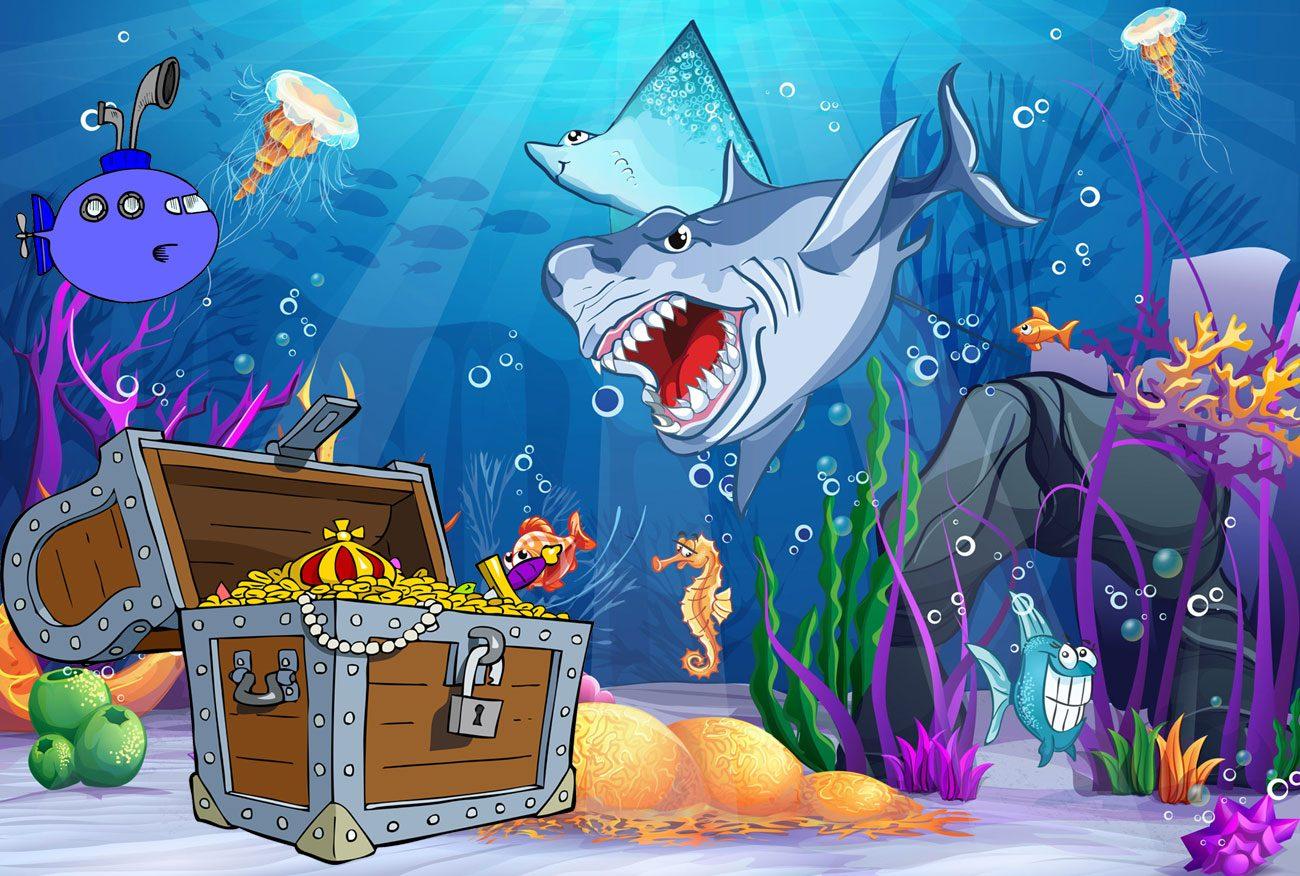 Unterwasser-Schnitzeljagd Thema - Kinderspiele Schnitzeljagd